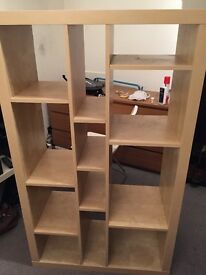 Ikea expedit assymetrical bookcase - excellent condition (looks new)