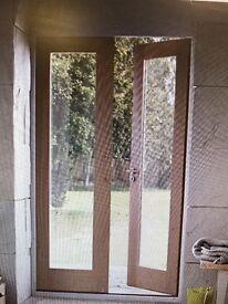Pattern 20 oak veneered French doors 3 available