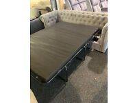 NEW grey quality 3/2 large chester sofas
