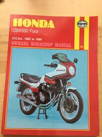 Honda CBX 550 Four - Haynes Workshop Manual