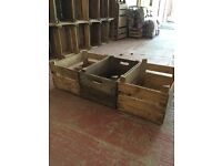 Vintage wooden apple boxes.