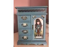 Santoro gorjuss style jewellery wardrobe box