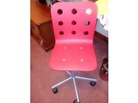 Child's bedroom table and chair; IKEA, Red, as new, ideal for Christmas