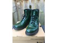 Dark Green Dr Marten Boots Size 8