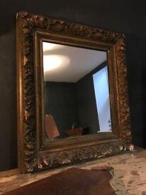 Vintage Antique French Gold Framed Mirror