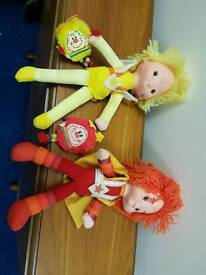 SOLD subject to collection - Rainbow Brite dolls with sprites