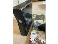 Xbox 360 S console, wireless controllers and games for sale