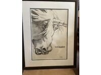 Unicorn charcoal picture