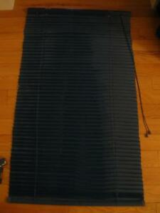 ONE NAVY BLUE NARROW-SLOTTED VENETIAN BLINDS
