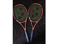 Yonex vcore tour G tennis rackets x 2