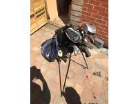 Golf clubs bag and stand