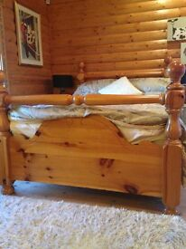 Beautiful solid pine bed unusual design