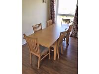 IKEA Extendable Dining Table and 6 Chairs - £540 RRP - BJURSTA / NORRNAS - Used Excellent Condition