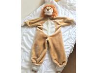 Kids Lion Fancy Dress Outfit Age 2-4