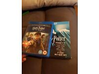 Harry Potter blu rays years 1-6 + part 2 of year 7