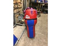 Large punch bag and speedball