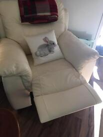 DFS Cream Leather Suite 10 Months Old