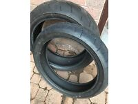 Set of Bridgestone Motorcycle Tyres - Fireblade, R1, GSXR,