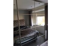 IKEA PAX Wardrobe with double mirrored doors - Excellent condition! £225 Each!