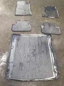Audi A5 rubber mats & boot liner