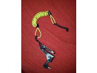 Motorbike Disc Lock with Safety Lanyard Spring