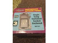 Single weatherproof socket