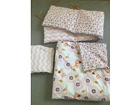 Mamas and Papas patternology cotbed set