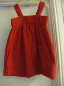 RED DRESS + matching CARDIGAN - LIKE NEW age 18-24 months IMMACULATE & GORGEOUS! NOW REDUCED ONLY £4