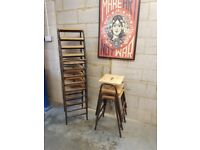 Vintage Industrial Stacking Stools (8 available)