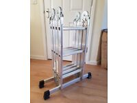 MULTI PURPOSE EXTENDABLE LADDER MINT TRADE OR HOME USE £45 ONO