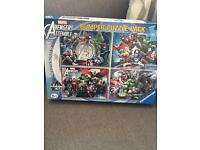Marvels jigsaw. 4 x 100 piece jigsaw. Hardly ever used. Excellent condition. £4. B34
