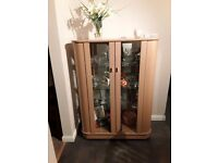 Modern style display cabinet and matching sideboard