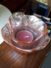 Bejewelled Teslight holder - red glass