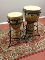 "Remo 16"" Djembe drum and stand"
