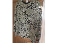 Vintage ladies large/ oversized funky sparkly top