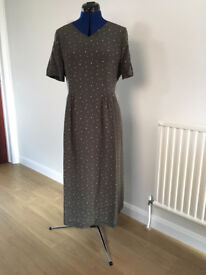 Laura Ashley day dress, green, size 14