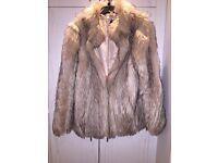 Cream topshop fur coat