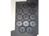 "12 x 10kg Cast Iron Weight Plates Standard Size 1"" Hole £20 a pair (bench, press, squat, Rack)"