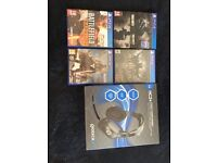 PlayStation ( PS4 ) games and headset