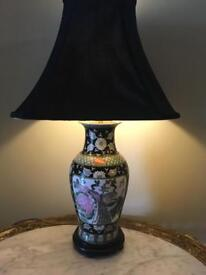 Two Large Chinese Table Lamps