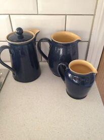 Denby pottery jugs