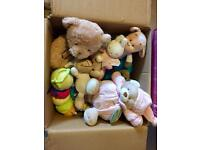 Box of Around 15 Kids Soft Toys Able to Deliver