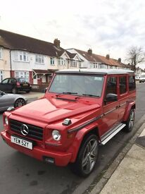 "1982 RED MERCEDES 280GE W460 G CLASS WAGON FACELIFTED AMG KIT 22"" ALLOYS - PLUS EXTRAS!!!!"