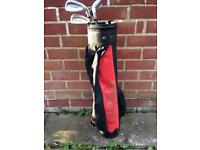 Junior golf bag with clubs