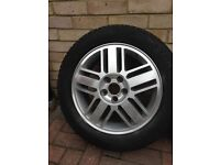 """16"""" Alloy Wheels Ford & 205/55-16 Michelin tyres x 4."""