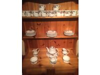 Royal Doulton Autumn Gold China Teaset, 17 cups, 16 saucers, 9 plates etc. Buyer collects.