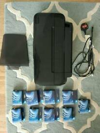 Epson stylus S22 printer + 9 ink cartridges