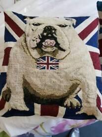 4 x union jack british bulldog cushions