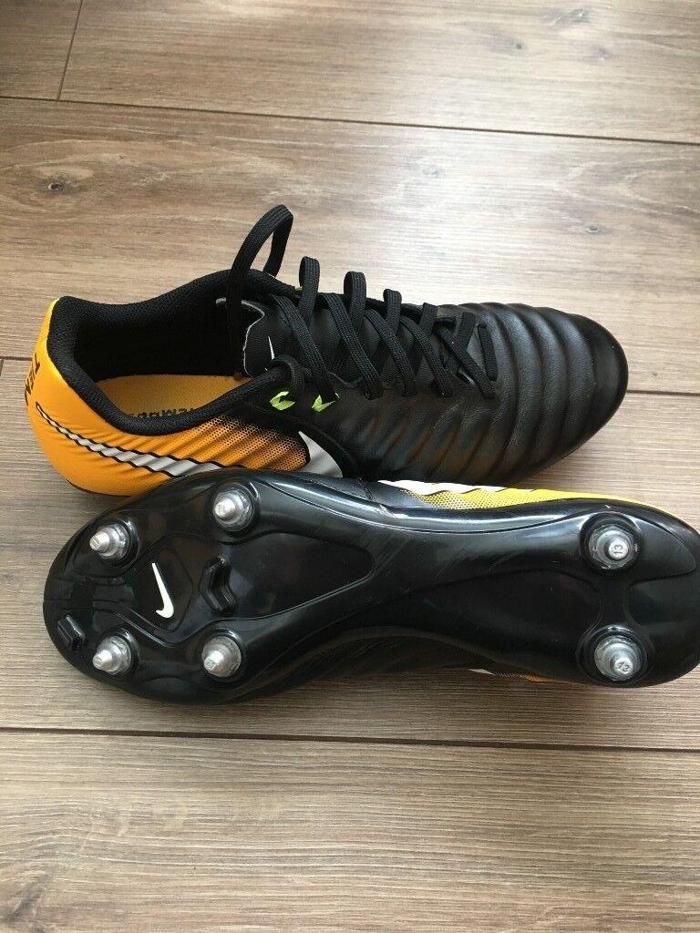 Nike Tiempo Football Boots - Black Orange 5dc0405d27c2