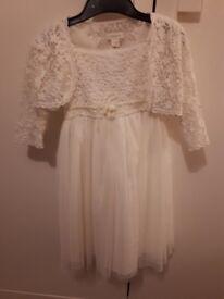 2 girls ivory dresses used for flower girl dresses
